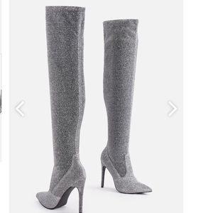 61676be4f000 JustFab Shoes - 🆕 Freya Heeled Women s Metallic Boot